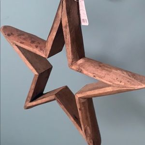 Farmhouse Rustic Star with beads NWT!